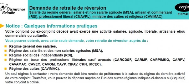 pension de reversion du regime de base