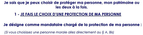 mandat de protection future